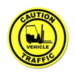 Durastripe Circle Sign - Caution Vehicle Traffic