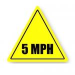 Durastripe Triangle Sign - 5 MPH