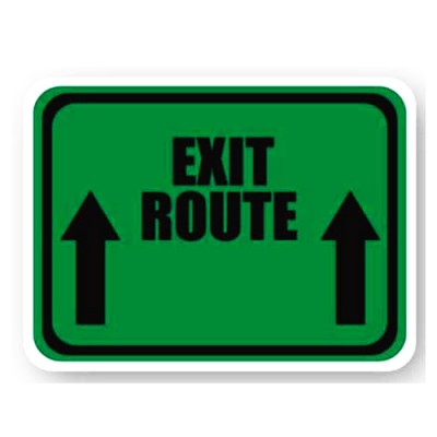 Durastripe Rectangle Sign - Exit Route