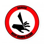 Durastripe Circle Sign - Danger Keep Hands Clear