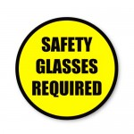 Durastripe Circle Sign - Safety Glasses Required