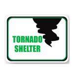 Durastripe Rectangle Sign - Tornado Shelter