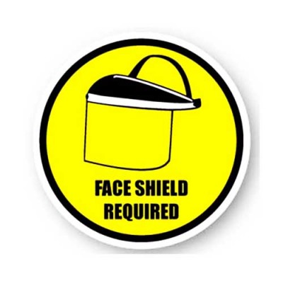 Durastripe Circle Sign - Face Shield Required