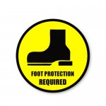 Durastripe Circle Sign - Foot Protection Required