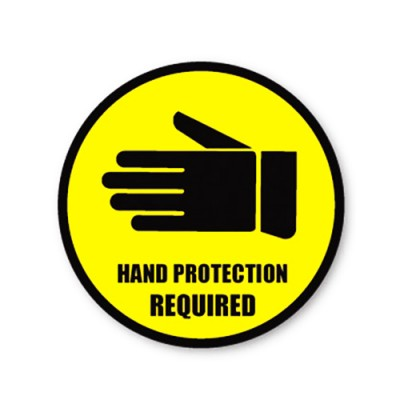 Durastripe Circle Sign - Hand Protection Required