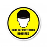 Durastripe Circle Sign - Hard Hat Protection Required