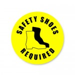Durastripe Circle Sign - Safety Shoes Required