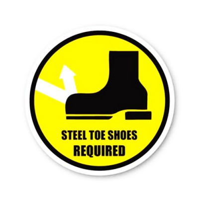 Durastripe Circle Sign - Steel Toe Shoes Required