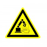 Durastripe Triangle Sign - Do Not Enter Machine Work Zone