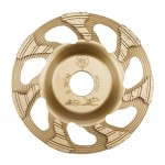 Cup Grinding Wheel 2 Gold - 25 grit - For handheld machines